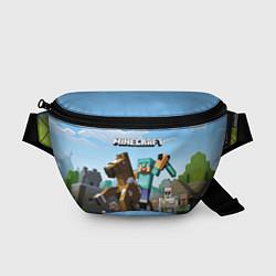 Поясная сумка Minecraft Rider цвета 3D — фото 1