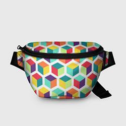 Поясная сумка 3D кубы цвета 3D — фото 1