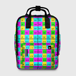 Рюкзак женский Тестовый яркий цвета 3D-принт — фото 1