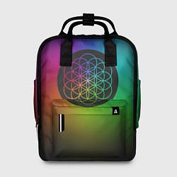 Рюкзак женский Coldplay Colour цвета 3D-принт — фото 1