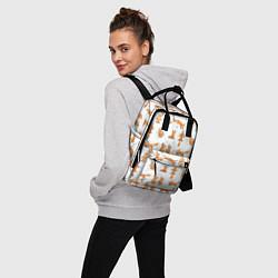 Рюкзак женский Хитрые лисички цвета 3D — фото 2