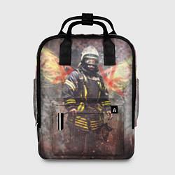 Рюкзак женский Пожарный ангел цвета 3D-принт — фото 1