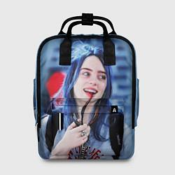 Женский городской рюкзак с принтом BILLIE EILISH, цвет: 3D, артикул: 10201693705839 — фото 1