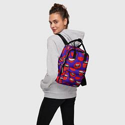 Рюкзак женский Губы цвета 3D-принт — фото 2