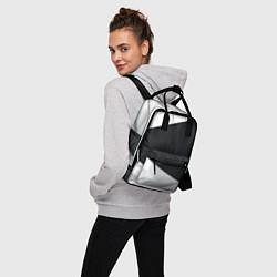 Рюкзак женский Чёрно-белый цвета 3D — фото 2