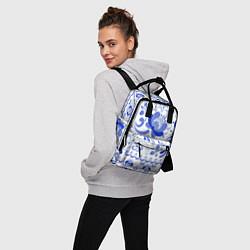 Рюкзак женский Гжель 2 цвета 3D — фото 2