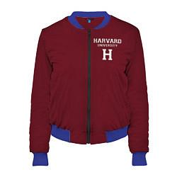 Бомбер женский Harvard University цвета 3D-синий — фото 1
