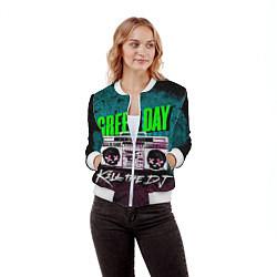 Бомбер женский Green Day: Kill the DJ цвета 3D-белый — фото 2