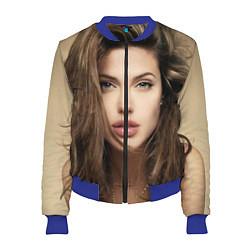 Бомбер женский Анжелина Джоли цвета 3D-синий — фото 1