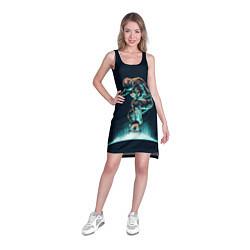 Туника женская Планетарный скейтбординг цвета 3D — фото 2