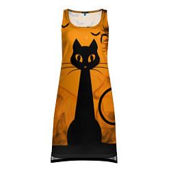 Туника женская Halloween Cat цвета 3D-принт — фото 1