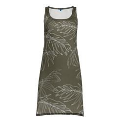 Туника женская Листья пальмы цвета 3D — фото 1