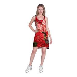 Туника женская Ассорти из цветов цвета 3D — фото 2