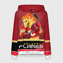 Толстовка-худи женская Calgary Flames цвета 3D-белый — фото 1