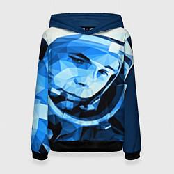 Толстовка-худи женская Gagarin Art цвета 3D-черный — фото 1