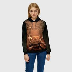 Толстовка-худи женская Довакин цвета 3D-черный — фото 2