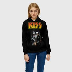 Толстовка-худи женская KISS: Ace Frehley цвета 3D-черный — фото 2