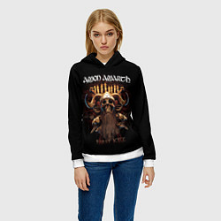 Толстовка-худи женская Amon Amarth: First kill цвета 3D-белый — фото 2