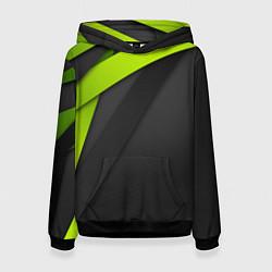 Толстовка-худи женская Спортивная геометрия 6 цвета 3D-черный — фото 1