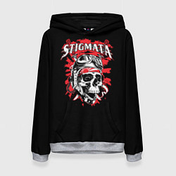 Толстовка-худи женская Stigmata Skull цвета 3D-меланж — фото 1