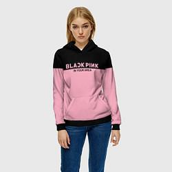 Толстовка-худи женская Black Pink: In Your Area цвета 3D-черный — фото 2