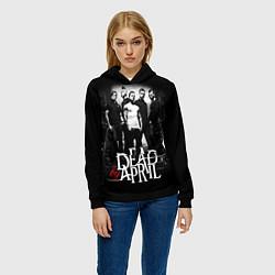 Толстовка-худи женская Dead by April: Dark Rock цвета 3D-черный — фото 2