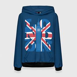 Толстовка-худи женская London: Great Britain цвета 3D-черный — фото 1
