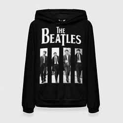 Толстовка-худи женская The Beatles: Black Side цвета 3D-черный — фото 1
