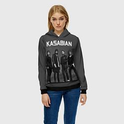 Толстовка-худи женская Kasabian: Boys Band цвета 3D-черный — фото 2