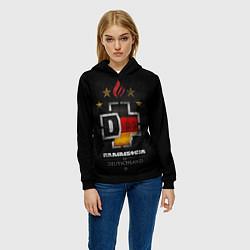 Толстовка-худи женская Rammstein: Deutschland цвета 3D-черный — фото 2