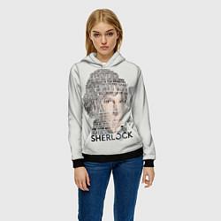 Толстовка-худи женская Sherlock цвета 3D-черный — фото 2
