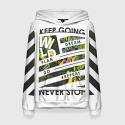 Толстовка-худи женская Off-White: Keep Going цвета 3D-белый — фото 1