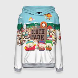 Толстовка-худи женская Южный Парк цвета 3D-меланж — фото 1