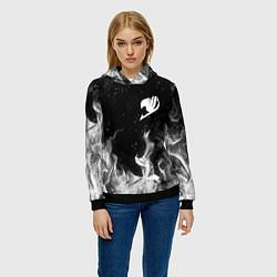 Толстовка-худи женская FAIRY TAIL ХВОСТ ФЕИ цвета 3D-черный — фото 2