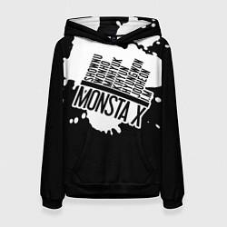 Толстовка-худи женская Monsta X цвета 3D-черный — фото 1
