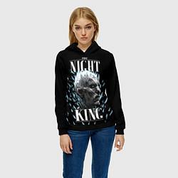 Толстовка-худи женская The Night King цвета 3D-черный — фото 2