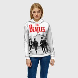 Толстовка-худи женская The Beatles: Break цвета 3D-белый — фото 2