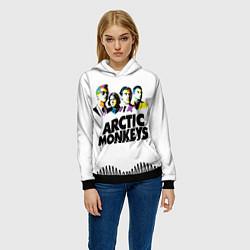Толстовка-худи женская Arctic Monkeys: Music Wave цвета 3D-черный — фото 2