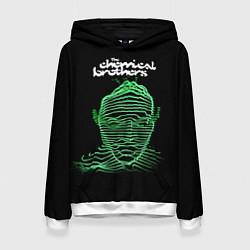 Толстовка-худи женская Chemical Brothers: Acid lines цвета 3D-белый — фото 1