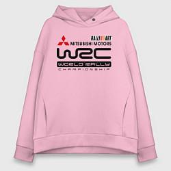 Толстовка оверсайз женская Mitsubishi wrc цвета светло-розовый — фото 1