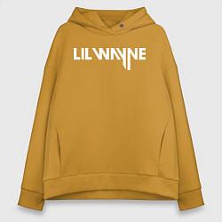 Толстовка оверсайз женская Lil Wayne цвета горчичный — фото 1