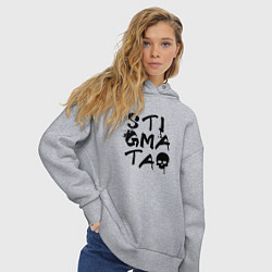 Толстовка оверсайз женская Stigmata цвета меланж — фото 2