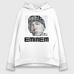 Толстовка оверсайз женская Eminem labyrinth цвета белый — фото 1