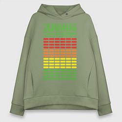 Толстовка оверсайз женская Armin van Buuren: EQ цвета авокадо — фото 1