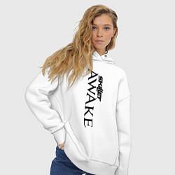 Толстовка оверсайз женская Skillet Awake цвета белый — фото 2