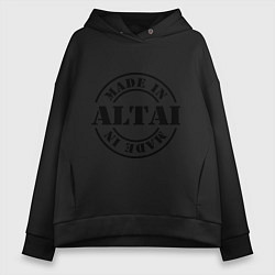 Толстовка оверсайз женская Made in Altai цвета черный — фото 1