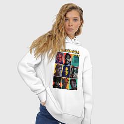 Толстовка оверсайз женская The Suicide Squad цвета белый — фото 2
