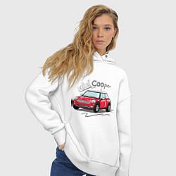 Толстовка оверсайз женская Mini Cooper цвета белый — фото 2