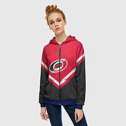 Толстовка на молнии женская NHL: Carolina Hurricanes цвета 3D-синий — фото 2