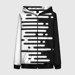 Толстовка на молнии женская Необычная геометрия! цвета 3D-черный — фото 1